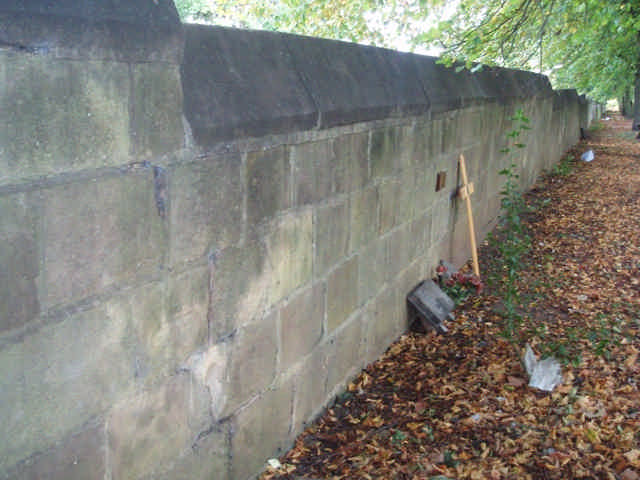 The mid-section of the wall. It was leaning this way quite considerably.